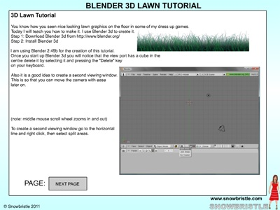 Blender 3d lawn tutorial