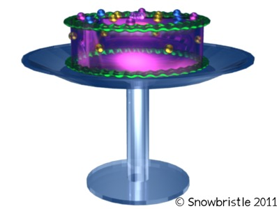 Cake 3d render