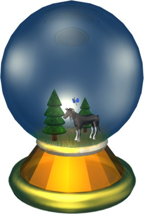 Decorate a snow globe game