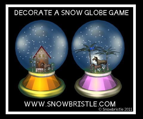 Decorate a snow globe game preview
