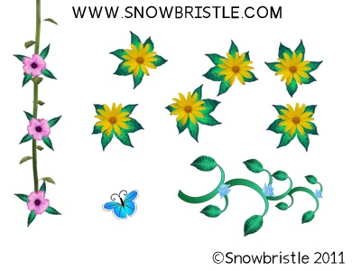 Flower style dress up game parts