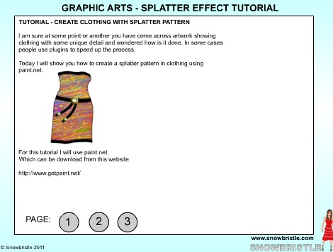 Graphic arts splatter effect tutorial