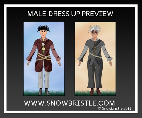 Male dress up game characters preview