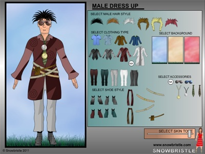 Male dress up game preview