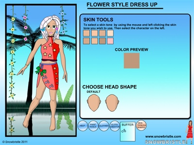 Dress up application face shape tool