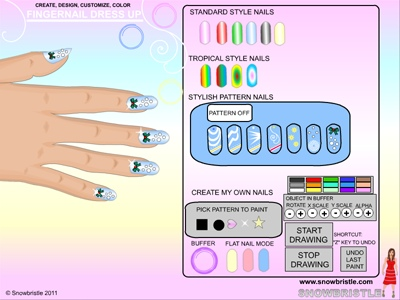 Design amazing custom fingernails