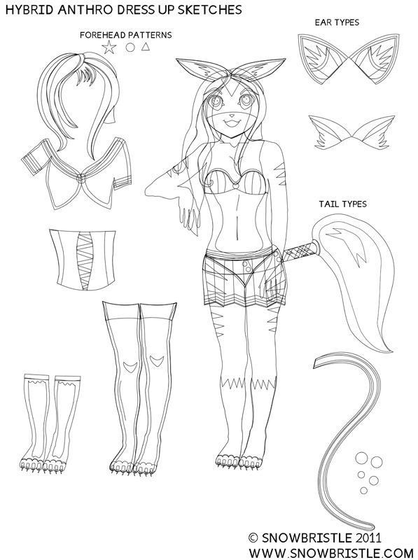Hybrid anthro sketches