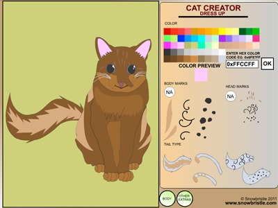 Cat creator designer program