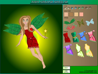 Fairy creator dress up game