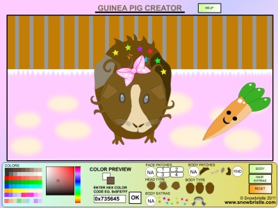 Guinea Pig Creator Dress Up Game