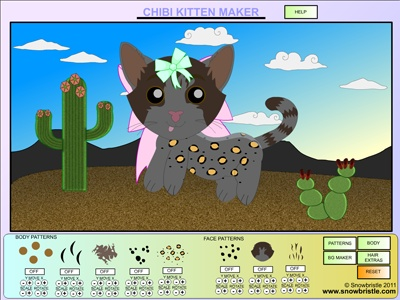Chibi Kitten Maker Dress Up Game