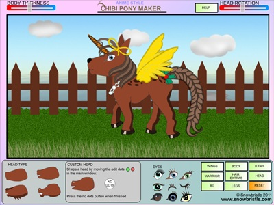 Chibi Pony Maker Dress Up Game