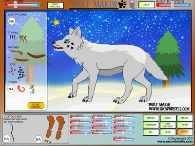 Wolf Maker Winter Scene