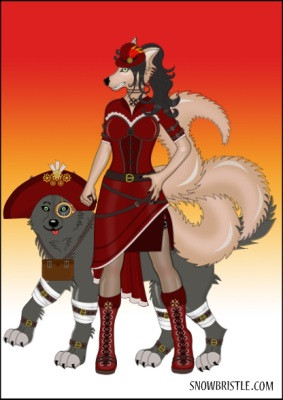 steampunk anthro wolf maker