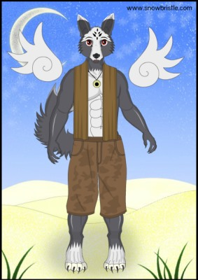 male wollf furry doll dress up game