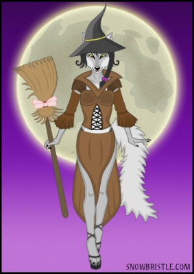 witch fursona maker with wolf.